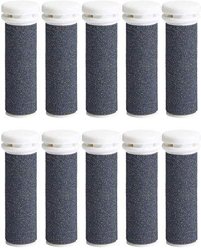 Rodillos de repuesto para pies gruesos, rodillos de repuesto micro minerales para pieles extremadamente ásperas, compatibles con Emjoi Micro Pedi, color gris