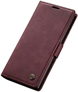 Flip Leather Case For Samsung Galaxy Note 10 Plus From CaseMe - Burgundy