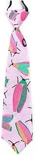 Ties For Little Boys Pre-tied Elastic Thin Tie Kids Linen Cotton Novelty Cartoon Printed Necktie Age 2-6