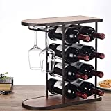 Inicio Equipo Estante para vinos Adornos decorativos Estante para vinos |Estante para botellas de vino con pantalla creativa |Botellero moderno y sencillo para vino |Estante de madera de doble u