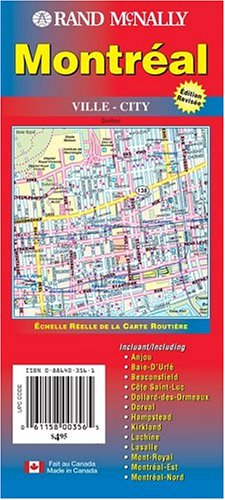 Download Montreal, Canada (Rand McNally City Maps) 0886403561