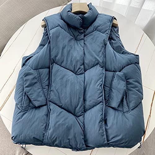 Sxygzmd-Hg Chaqueta con Cremallera Casual para Mujer Chaqueta de Chaquetas Suave y cálido Chaleco,Azul,M