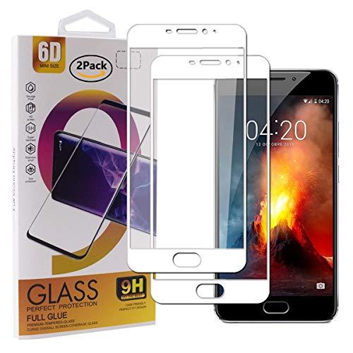Guran [2 Paquete Protector de Pantalla para Meizu M5 Note/Meizu Note5 Smartphone Cobertura Completa Protección 9H Dureza Alta Definicion Vidrio Templado Película - Blanco