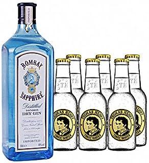 Bombay Sapphire Gin 1 x 1.0 l mit Fever-Tree Indian Tonic 6 x 0.2 l inc. 0.90€ MEHRWEG Pfand