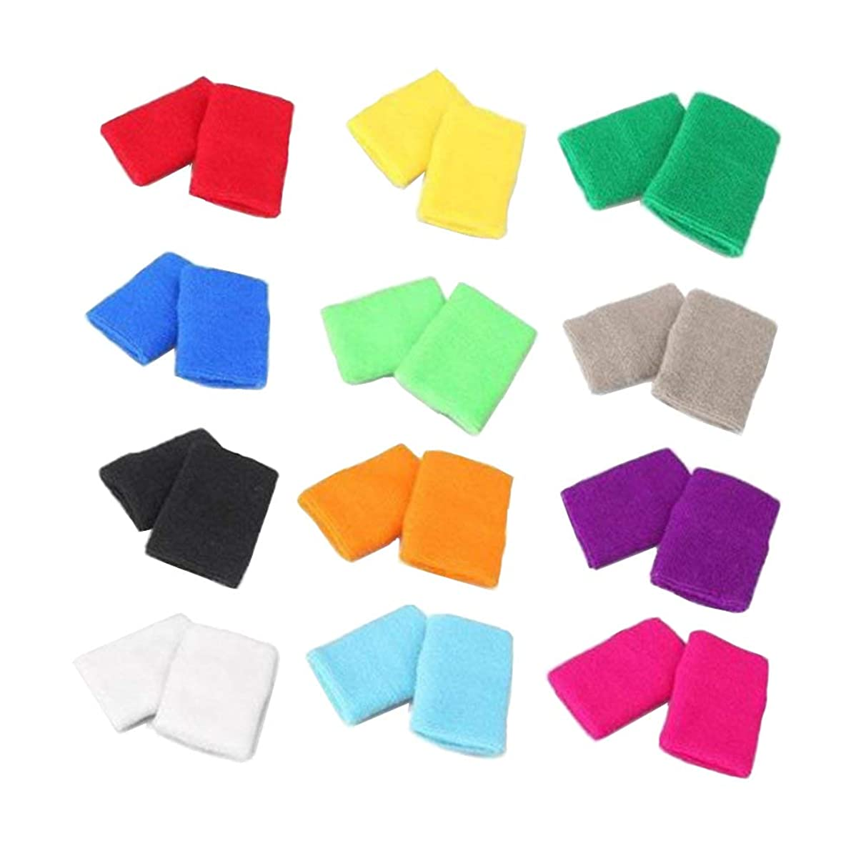STONCEL 12/24/40 Pairs Colorful Sports Wristbands Cotton Sweatband Wristbands Wrist Sweatbands Wrist Sweat Bands for Tennis,Sport, Basketball,Gymnastics,Golf,Running