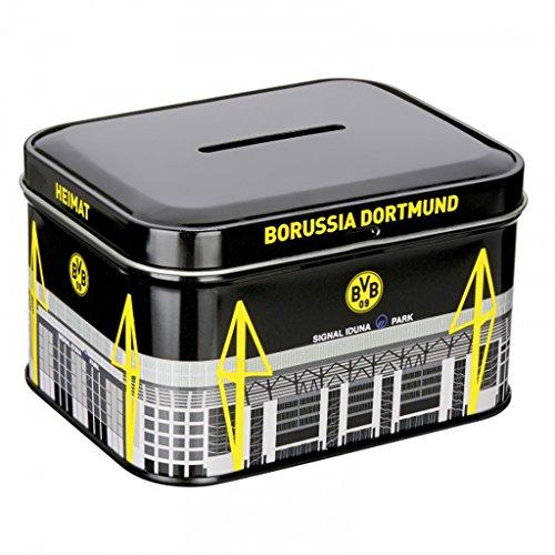 Borussia Dortmund Metallspardose/Spardose/Sparbüchse BVB 09 Plus gratis Aufkleber Forever Dortmund