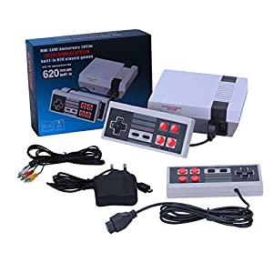 PlatiniumTech Consoles Video Games, 2018 Platinium Tech Built in 620 Video Games Consoles, (AV Out Cable), Children Gift, Birthday Gift