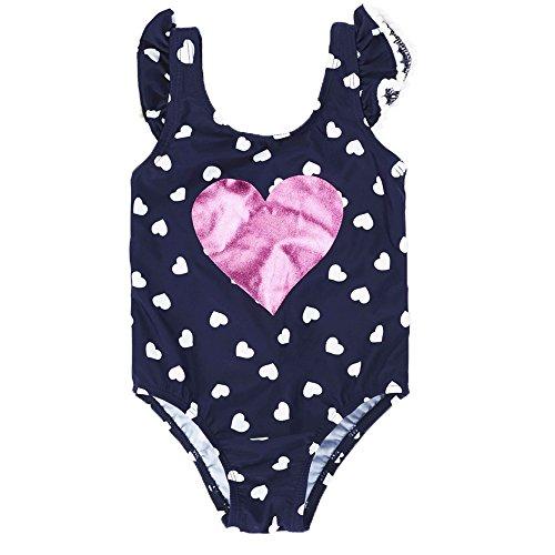 7 Mi badpak badpak voor baby-meisjes leuke liefdes-patroon badkleding eendelig