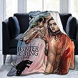 HelloMars Throw Blanket Game of Supreme Thrones Waffle Flannel Fleece Velvet Plush Large Printing for Couch