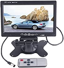 Beastron 7-inch HD Car Rear View Camera Monitor, High Resolution 800 x 480 TFT LCD Monitor with Stand, Rotating Screen and 2 AV Inputs