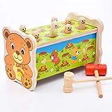 [テンカ]知育玩具木製ハンマートイ赤ちゃんベビー子供用叩くおもちゃ土竜たたきノックアウト幼児槌で打つネズミ楽しくプレゼントギフト出産祝い1歳 2歳 3歳