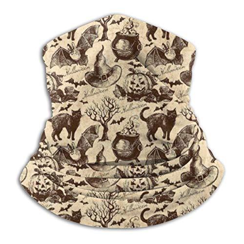 ASE Warmer Gamasche Multifunktionale Kopfbedeckung Sport Magische Stirnbänder, Symbole Halloween Hexenhut Kessel Fall Jack O Laterne Schwarze Katze
