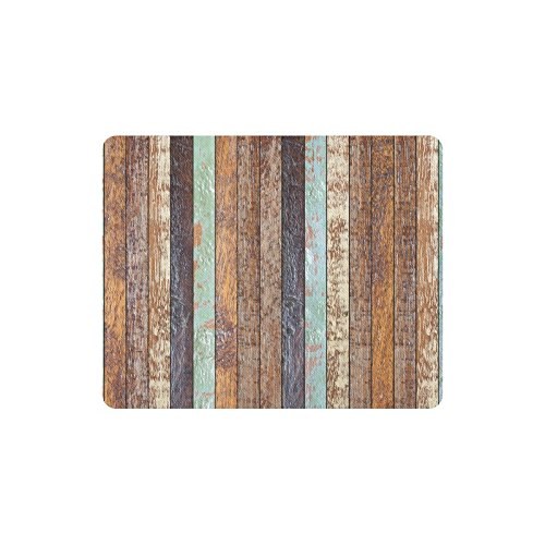 InterestPrint Vintage Rustic Colored Barn Wood Rectangle Non-Slip Rubber Laptop Mousepad Mouse Pads/Mouse Mats Case Cover