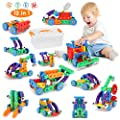 Fansteck 12 in 1 STEM Building Toys, Creative Construction Engineering Building Blocks Learning Stem Toys For Ages 3 4 5 6 7 8 9 Year Old Boys/Girls, Dump Truck Educational Building Block Toys(72 Pcs)