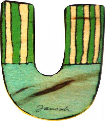 Janosch Holzbuchstabe U farblich sortiert
