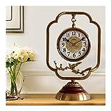 Reloj de Mesa Relojes de cobre de estilo chino Relojes y relojes Adornos Sala de estar Recepción creativa Relojes Decoración del hogar Relojes de escritorio Bronce Reloj Sobremesa ( Color : B )