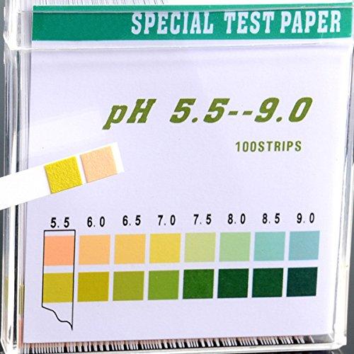 Bandelettes de test pH Starall 100 Strips 5.5-9.0 pour piscine d'eau potable pour la salive d'urine Aquarium de culture hydroponique