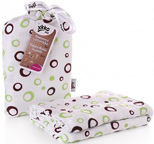 Easy enfants idées bmb12 0027 A Bambou Serviette à langer pour pucken, wickeln ou comme Tapis, Puck Chiffon Vert 120 x 120 cm