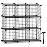 HOMIDEC Cube Storage, Storage Shelves 9 Cube Bookshelf Bookcase Closet Organizer and Storage Wire Storage Cube Multi-Use DIY Storage Cube Shelf for Books, Toys, Clothes, Tools