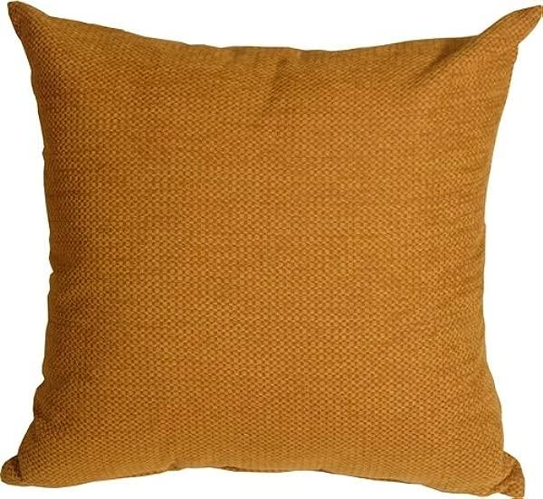 PILLOW D COR Arizona Chenille 20x20 Ochre Throw Pillow
