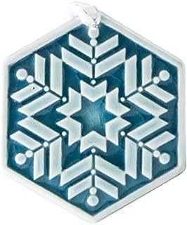 Pewabic Snowflake Ornament - Prisms