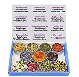 Tea Sampler - Flower Tea - Decaffeinated - Herbal - Chrysanthemum - Mint- Saffron - Hibiscus - Lavender - Chamomile - Rose - Loose Tea