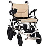 KADDGN Fauteuil Roulant motorisé Fauteuil Roulant électrique Pliant Portable Personnes âgées handicapées Walkers Get on en Fauteuil Roulant Avion Batterie au Lithium