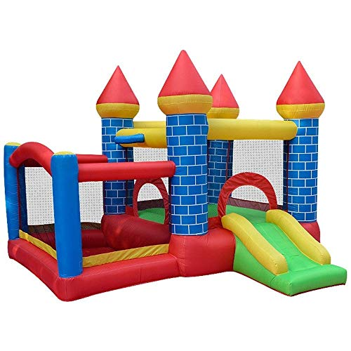 FMOGE Castillo Hinchable Inflable para Niños, Trampolín Inflable para El Hogar, Castillo Travieso, Cama De Salto para Interiores Y Exteriores, para Interiores Y Exteriores