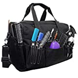Grand sac portable pour accessoires de coiffeur ou barbier - Noir