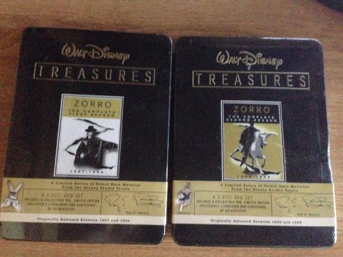 Zorro the Complete First Season , Zorro the Complete Second Season : Walt Disney Treasures 2 Pack Collection