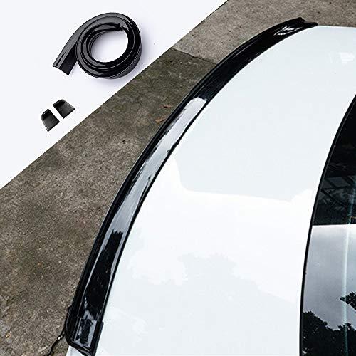 (Breite: 5 cm) Auto Rear Spoiler Universal Kofferraumspoiler Autodach Heckspoiler Spoiler Lippe für viele Fahrzeuge(Glänzend Schwarz)