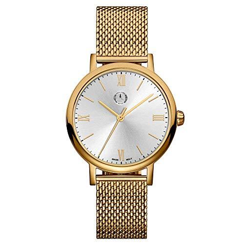 """Mercedes Benz Original Reloj de Pulsera Mujer Acero Inoxidable""""Classic Lady Roman """" Oro/Plata"""