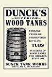 An advertisement for Dunck Tank Works Milwaukee Wisconsin makers of brewers tanks since 1866 Poster Print by Unknown (24 x 36)