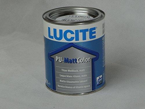 LUCITE PU Matt Color 0,75L weiss, Wasserverdünnbarer, matter Buntlack auf Basis einer Polyurethan Bindemittelkombination.