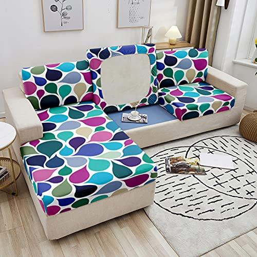 JINGQIAO Funda de cojín elástica para sofá, funda de cojín elástica para sofá, funda de cojín geométrica, para decoración de sala de estar