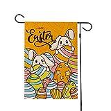 PRETYZOOM Sacwinzigen Ostern Garten Flagge Kaninchen Hase Garten Flagge für Vintage Rustikale Ostern Outdoor Hof Wohnkultur