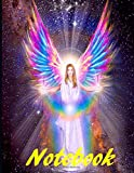 Angel and Spirit Multi Colour Notebook: 8.5' x 11' 120 white lined pages collage fairy Wings angels multi colour notebook for ladies Woman girls men boys