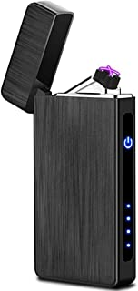 Tenfel ライター USB充電 觸感 センサー 点火 プラズマ ターボ 電子ライター 防風 軽量 ギフト 高級 ブラック