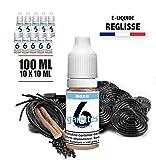 E-liquide pas cher 100ML saveur REGLISSE sans nicotine - (10x10ML)