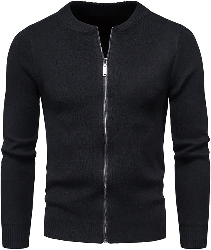 PDGJG Men's Knitted Sweater Jacket Long Sleeve Cardigan Wool Men's Lapel Workwear Cardigan With Sweater (Color : Black, Size : M code)