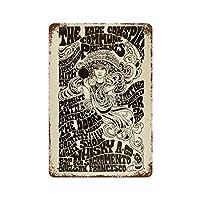 ジム・モリソンThe Doors En Elさびた錫のサインヴィンテージアルミニウムプラークアートポスター装飾面白い鉄の絵の個性安全標識警告バースクールカフェガレージの寝室に適しています