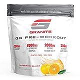 Granite® GX Pre-Workout Supplement (Tangerine) Advanced Formula for Pump, Focus, Energy, Performance | Citrulline, Taurine, Lions Mane, Tyrosine, Teacrine, Betaine, Carnosyn, Creatine | Vegan, USA