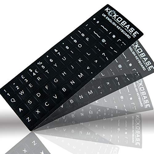 Kokobase Qwerty English Keyboard Stickers Self-adhesive English UK British Layout