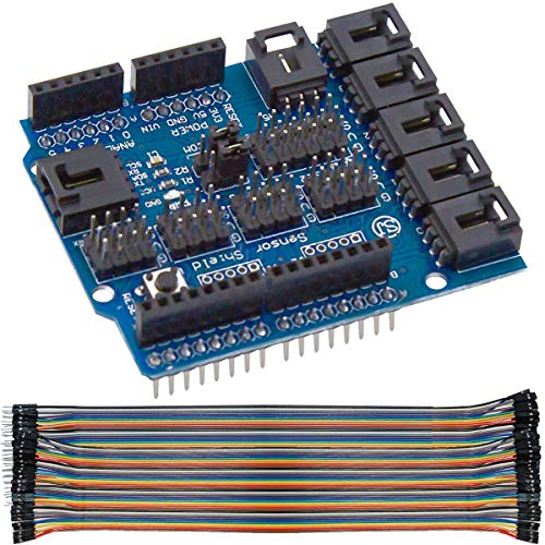 Youmile Sensor Shield V4 Module Digital Analog For Arduino Duemilanove UNO Mega2560 R3 With Dupont Cable