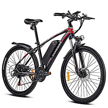 26Inch 500W Electric Mountain Bike 48V/13 Ah Removable Battery E-Bikes for Men and Women eAhora Electric Bikes for Adults with Shimano 21 Speed and Suspension Fork LCD Display with USB