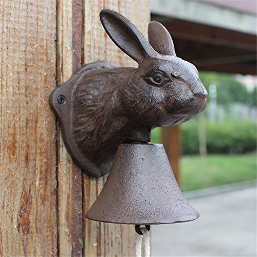 Rustieke vintage deurbel van gietijzer, decoratief, deurbel, diner, bel, windspel, hangend, tuindecoratie, bar, binnenplaats, school.