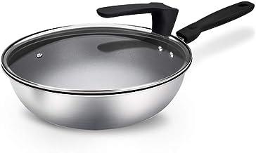 XZJJZ Professional Non Stick Frying Pan Compound Steel Frying Pan Without Oil Smoke Frying Pan Single Handle