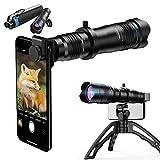 SHILIU Lente de Cámara para Móvile, 36X Zoom Teleobjetivo, Objetivo HD de Teléfono para iPhone, Samsung, Android Smartphone, Telescopio Monocular