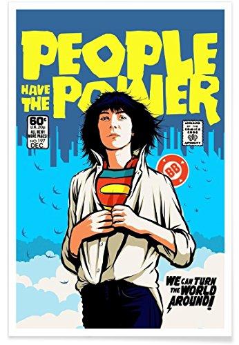 Juniqe® Affiche 80x120cm Pop Art - Design Power to The People (Format : Portrait) - Poster, Tirages d'art & Tableaux par des Artistes indépendants créé par Butcher Billy