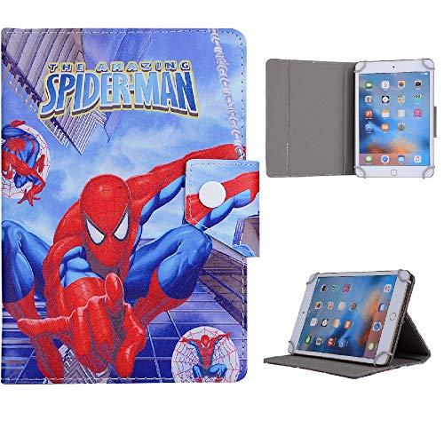 8' Inch Universal Cartoon Disney Cartoon & Famous Characters Tablet Case For Boys Girls Cover (Amazing Spiderman)